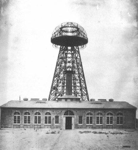 Башня Уорденклифф (Wardenclyffe Tower), известная также как Башня Теслы. Просуществовала с 1901 по 1917 г.