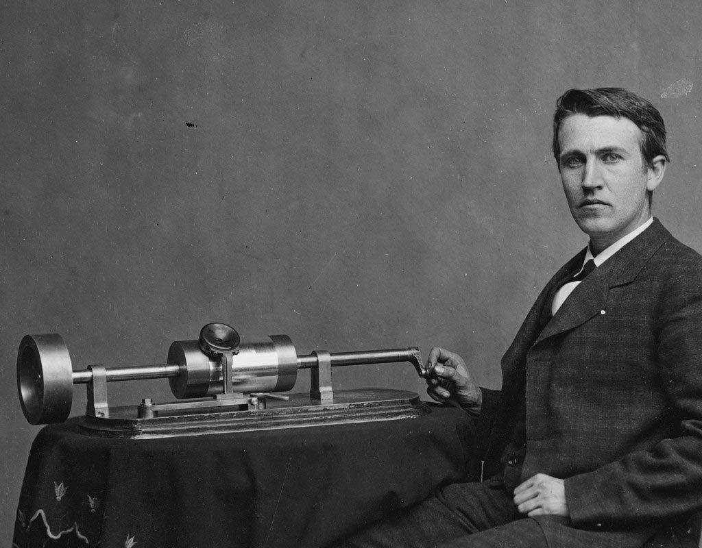 Томас Эдисон и фонограф