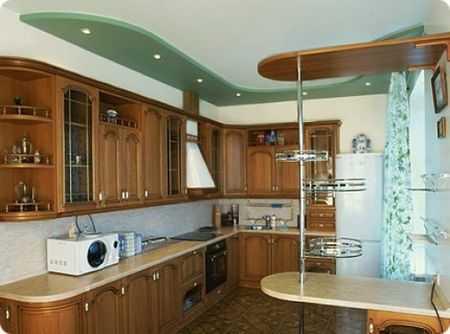 В кухнях чаще используются простые схемы
