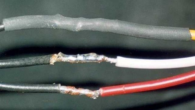 Так выглядит заизолированное соединение электрических проводов