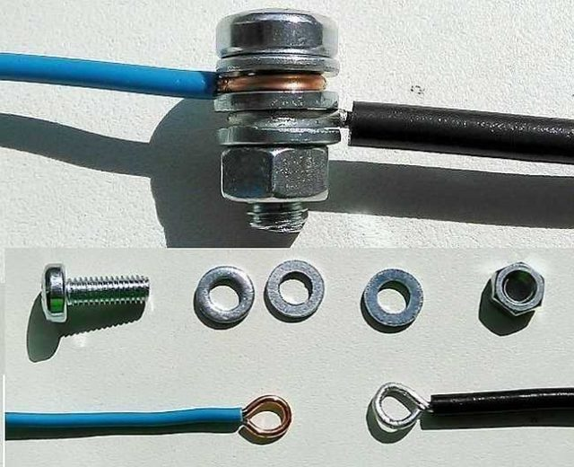 Как сделать болтовое соединение электрических проводов