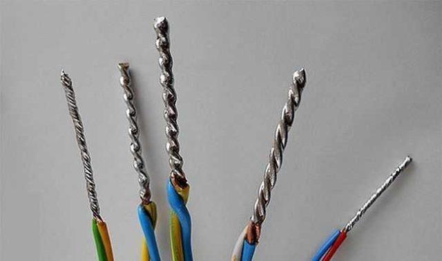 Паять можно одножильные или многожильные провода, но для больших пучков лучше выбрать другой метод