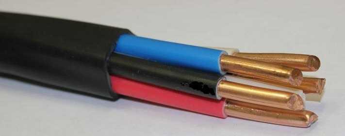 Внешний вид пятижильного кабеля ВВГ