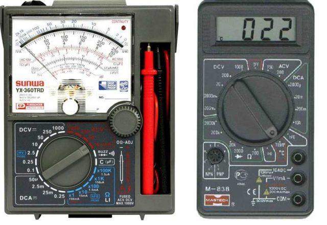 Мультиметры бывают стрелочными и электронными