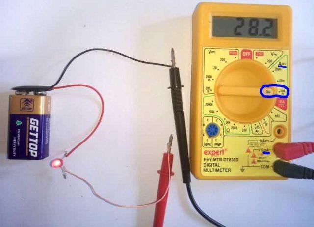 Как измерить мультиметром постоянный ток