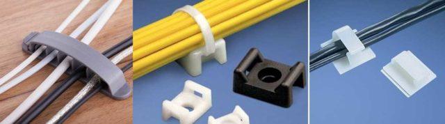 Крепление кабеля для упорядочивания проводов