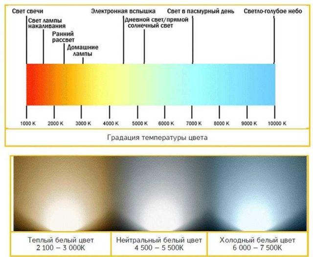 Температура света очень важна при выборе ламп освещения