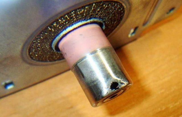 Металл может быть прожжен и в другом месте