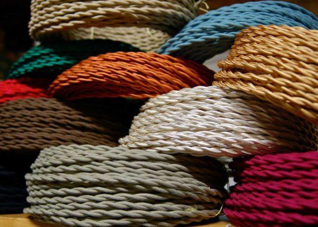 Кабели для ретро проводки имеют много цветов