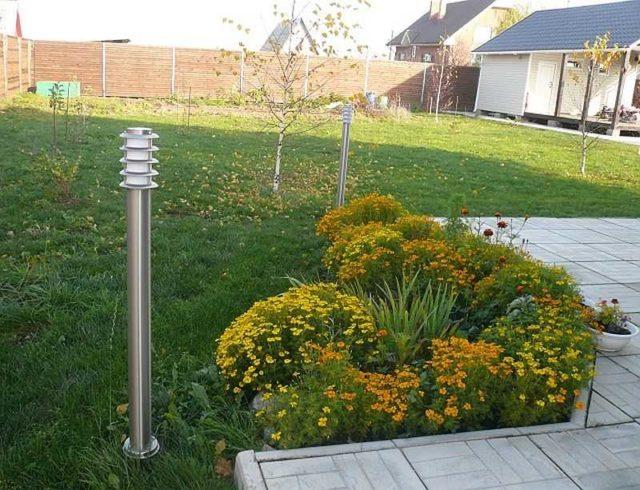 Фонари для освещения двора частного дома
