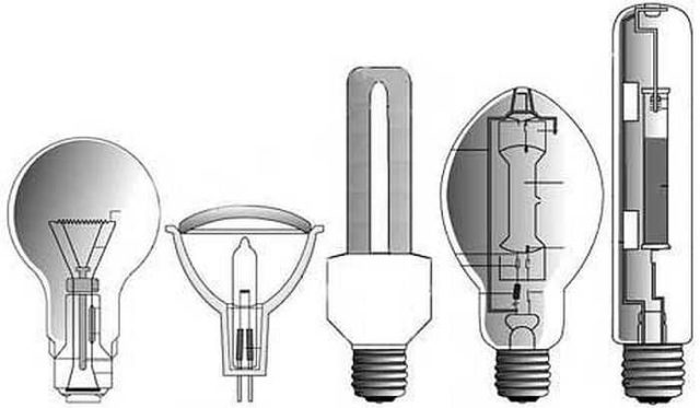 Форма может быть разной - под фонари и прожекторы разных моделей