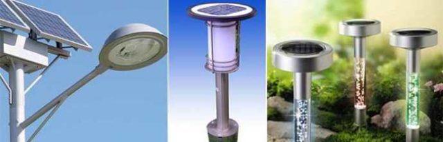 Уличное освещение своими руками будет экономичным, если использовать энергию солнца
