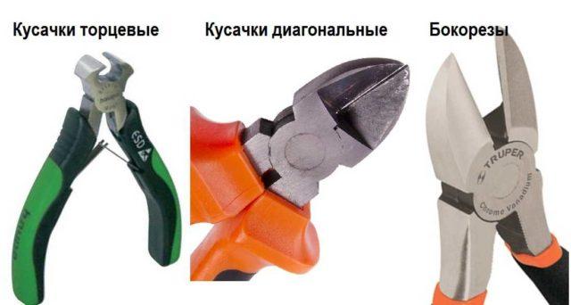 Кусачки разных видов