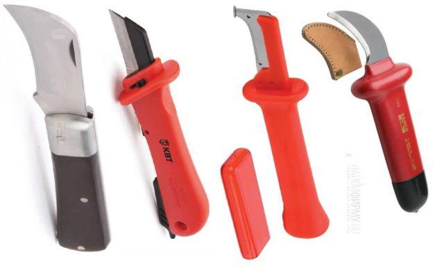 Форма монтерских ножей