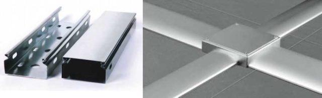 Металлические кабель-каналы. Есть обычные - из стали, для скрытой прокладки в стенах, есть - напольные, из алюминия