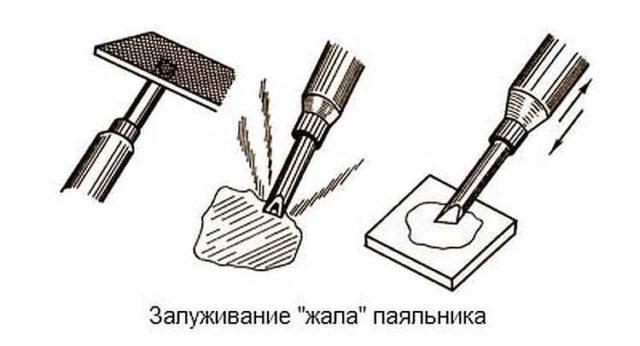 Как подготовить паяльник к работе