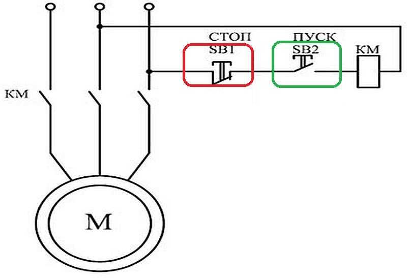 Схема магнитопускатель