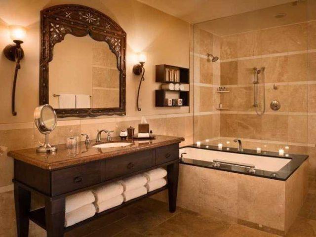 Высота установки бра в ванной