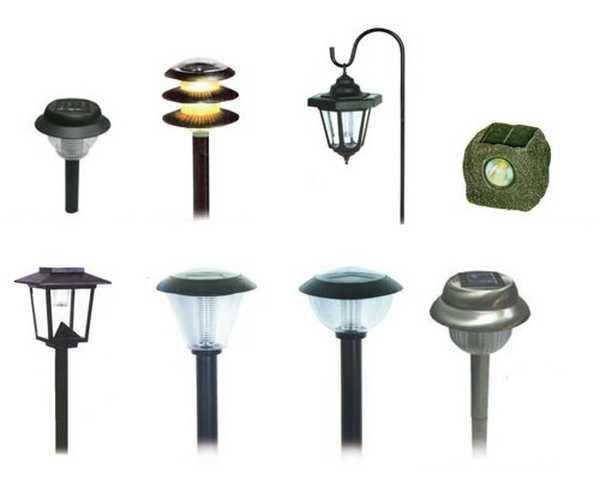 Фонари на солнечных батареях для освещения двора частного дома, дачи, сада