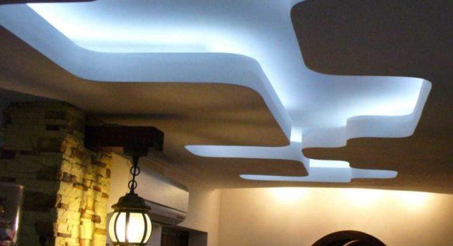 Подсветка потолка светодиодной лентой - один из самых популярных видов декора