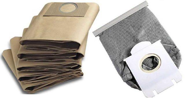 Пылевые мешки для пылесоса могут быть бумажными - одноразовыми, могут - тканевыми - многоразовыми