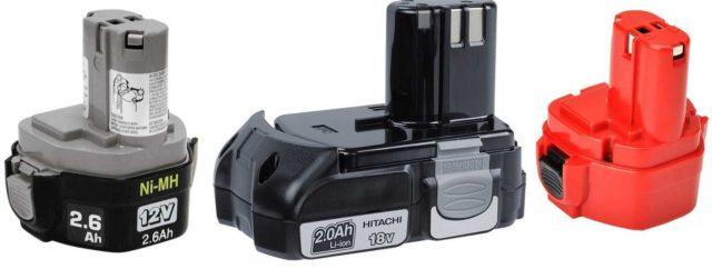 Виды аккумуляторных батарей для шуруповертов