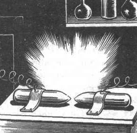 Электрическая дуга между угольными электродами