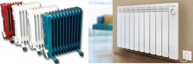 Масляные обогреватели для электрического отопления частного дома