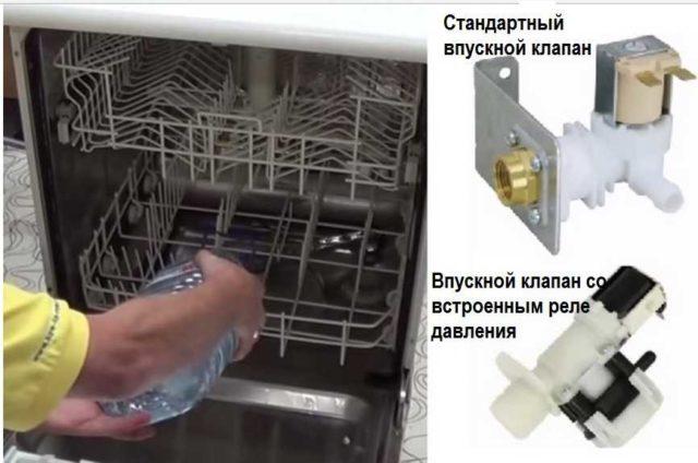 Чтобы проверить действительно ли отсутствие воды - причина останова, налейте внутрь воды и запустите агрегат