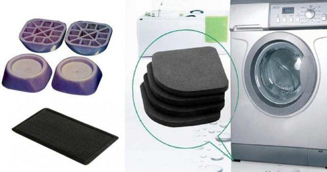 Антивибрационные прокладки или резиновый коврик решат проблему скачущей стиральной машинки