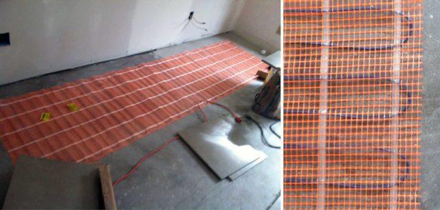 Технология монтажа теплого пола под плитку зависит от типа используемого элемента