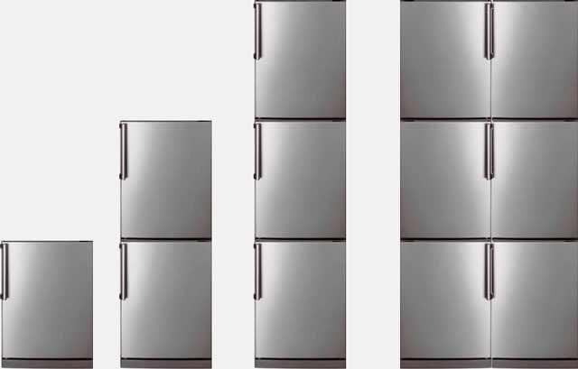 Количество камер в холодильнике - от 1 до 6