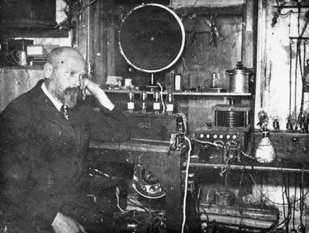 В.П. Вологдин в стенах Нижегородской радиолаборатории (НРЛ) имени В. И. Ленина