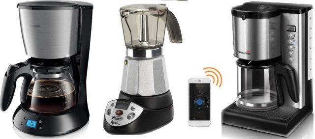 Кофеварки с отложенным стартом и даже управлением со смартфона (умные кофеварки)