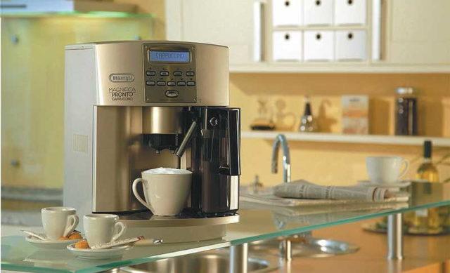 Можно задать определенное время запуска кофемашины