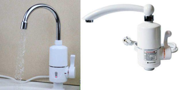 Это - проточный электроводонагреватель-кран идеален для кухни
