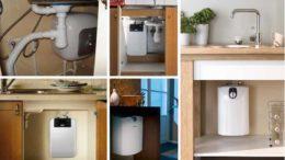 Небольшие по объему накопительные водонагреватели можно разместить даже под мойкой