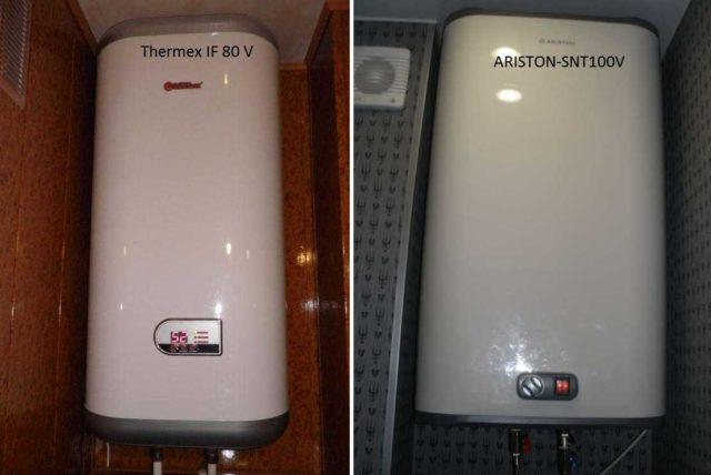 Управление накопительным водонагревателем может быть электронное (на фото Termex IF 80) или механическим (ARISTON-SNT100V)