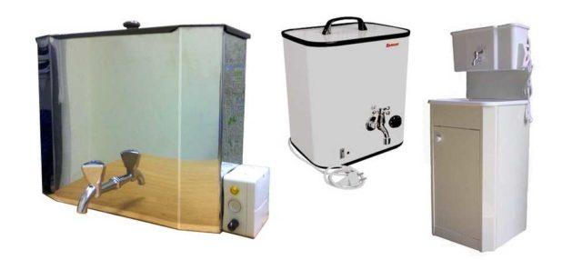Электробойлер для дачи наливного типа может быть даже с умывальником