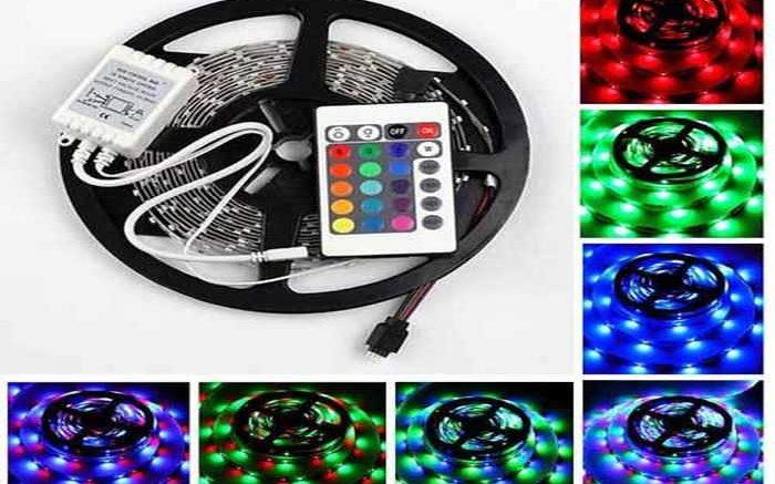 RGB светодиодная лента может работать только вместе с контроллером и пультом управления