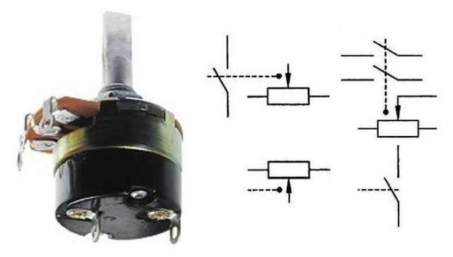 Переменный резистор с выключателем в одном корпусе: как выглядит, как обозначается на схеме