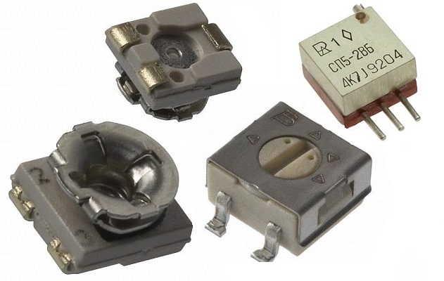 Переменные резисторы SMD