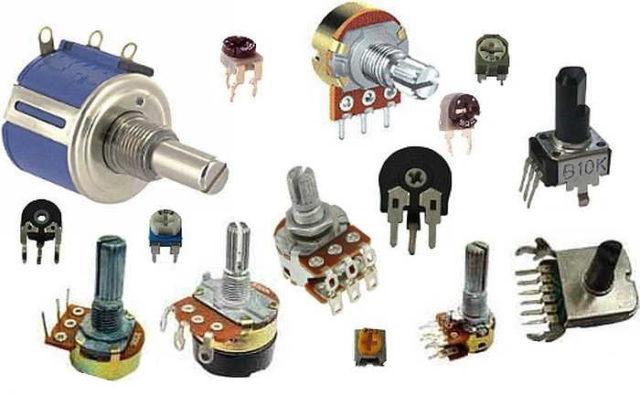 Регулируемые или переменные резисторы - виды и размеры разные
