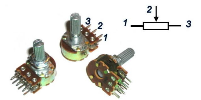 Цоколевка переменного резистора