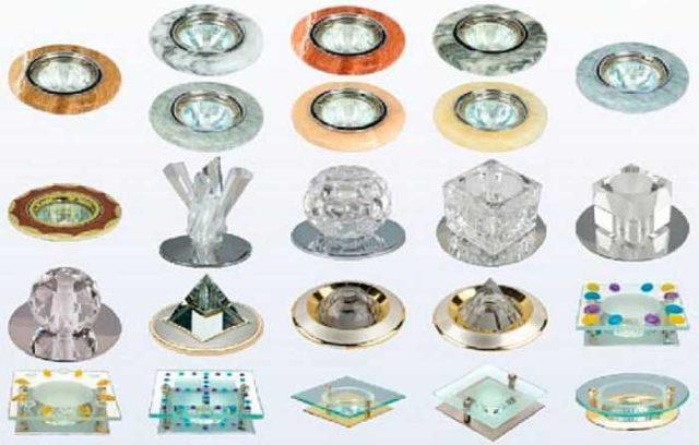 Точечные светильники под галогенки могут быть самыми разными
