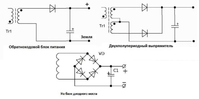 Несколько схем фильтров разной степени сложности