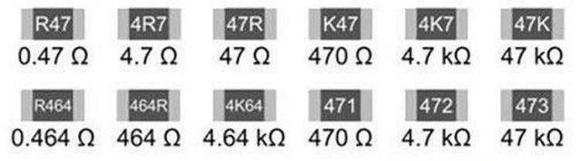 Маркировка низкоомных SMD резисторов