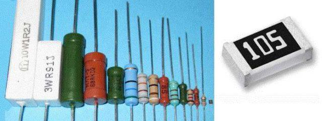 Виды резисторов: внешний вид постоянных сопротивлений
