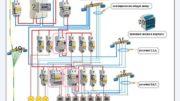 Пример сложной схемы электропроводки с УЗО