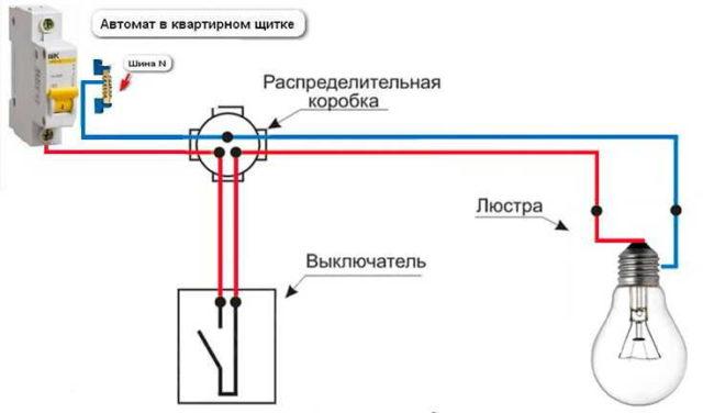 Как подключить одноклавишный (одинарный) выключатель с подсветкой: схема